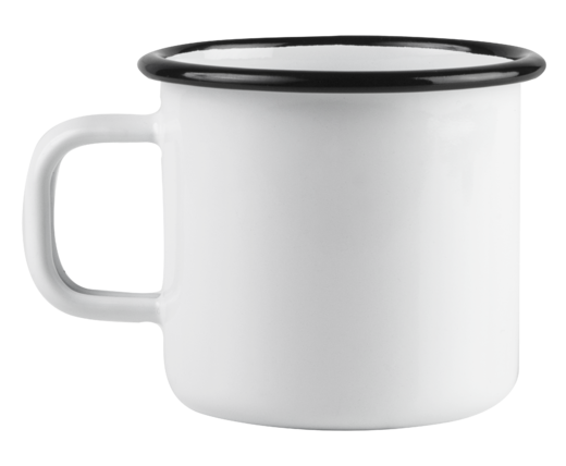 Basic enamel mug, 2,5 dl, white