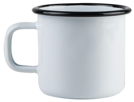 Basic enamel mug, 3,7 dl, white