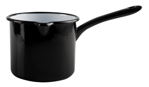 Basic enamel sauce pan, 1,3L, black