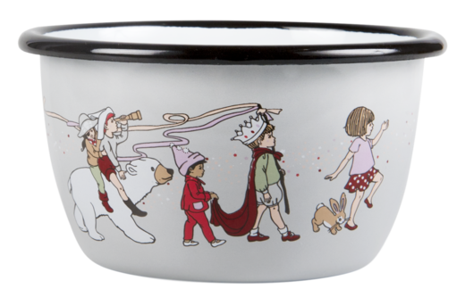 Belle & Boo enamel bowl, 3 dl, Parade