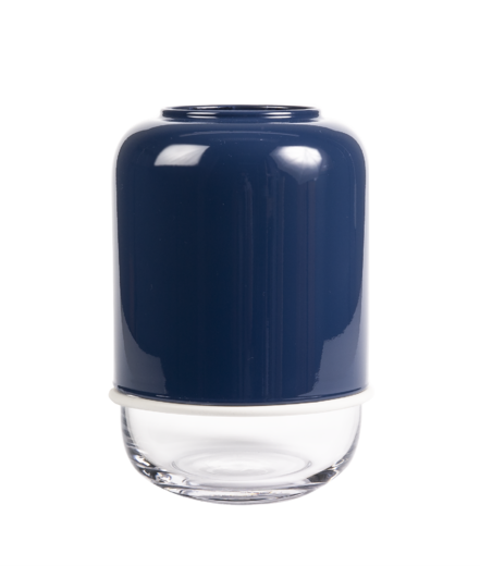 Capsule vase, blue/transparent
