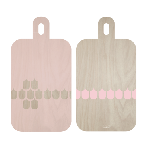 Vappu serving/cutting  board, pink, 23X44 cm