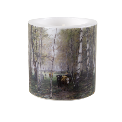 Cattle in the birch woods candle, 8cm