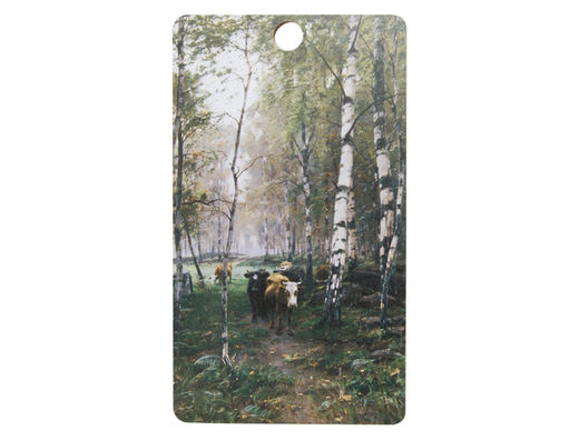 Cattle in the birch woods cutting/serving board, 20x35cm