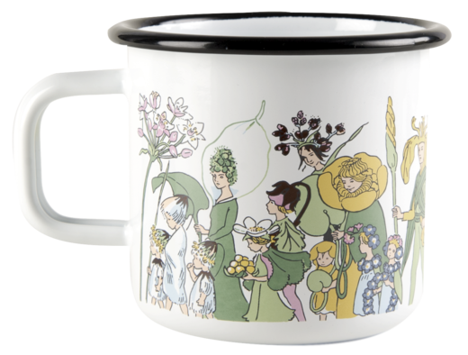 Elsa Beskow enamel mug, 3,7dl, Flower people