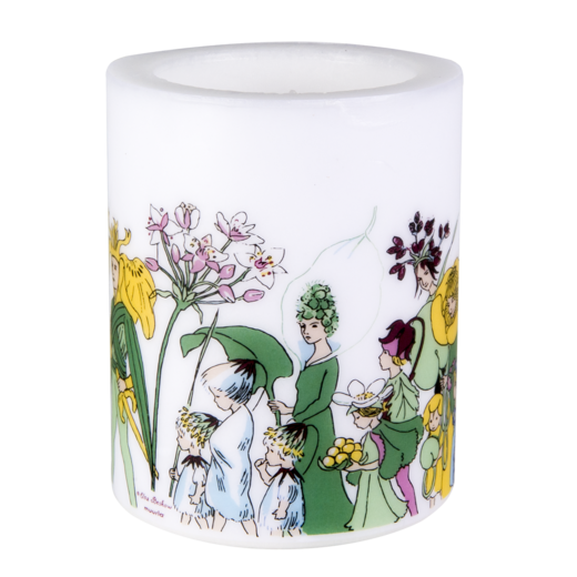 Elsa Beskow candle, 12cm, Flower people