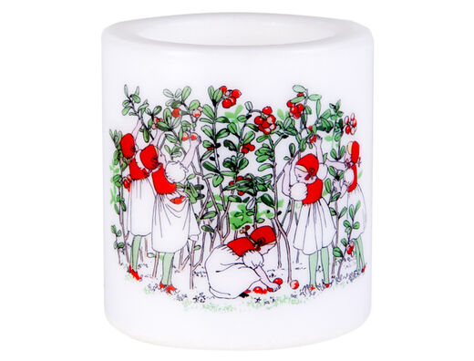 Elsa Beskow candle, 8cm, Lingonberries