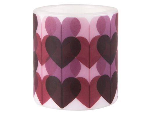 Heart candle, 8 cm