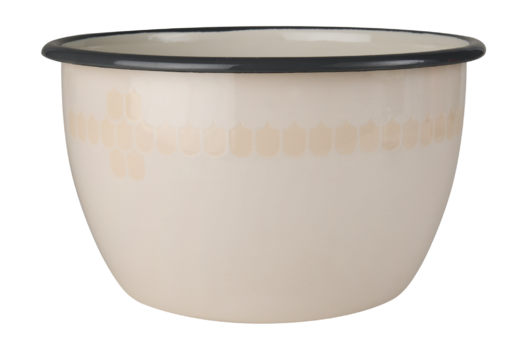 Kitchen series with Vappu Enamel Bowl beige 2L