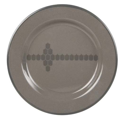 Kitchen series with Vappu enamel plate, 24cm, brown