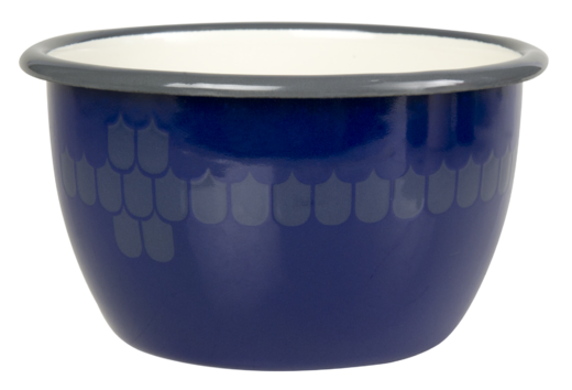 Kitchen series with Vappu Enamel Bowl blue 6dl
