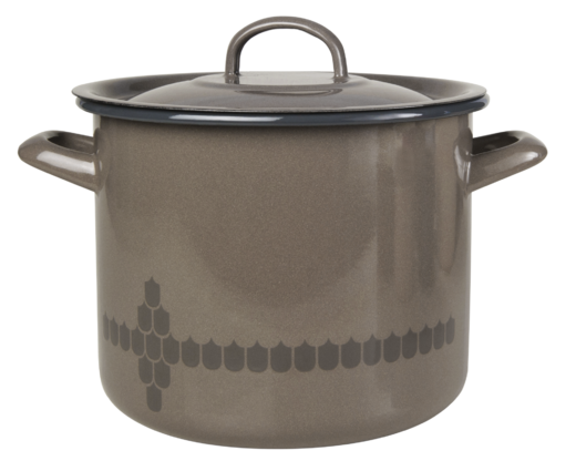 Kitchen series with Vappu Casserole with lid brown 3,5L
