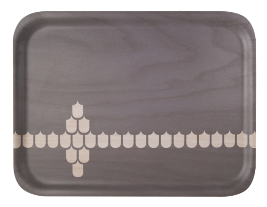 Kitchen series with Vappu tray, 43x32cm, grey
