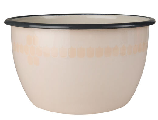 Kitchen series with Vappu enamel bowl, 2l, beige
