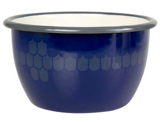 Kitchen series with Vappu enamel bowl, 6 dl, blue