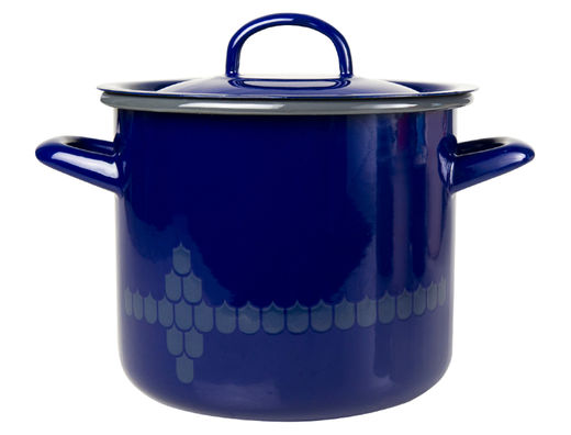 Kitchen series with Vappu casserole with lid, 2,5l, blue