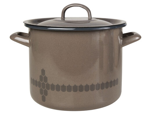Kitchen series with Vappu casserole with lid, 3,5l, brown