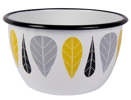 Leaves enamel bowl, 2l