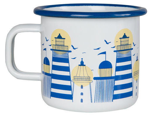 Lighthouse enamel mug, 3,7dl