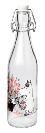 Moomin Glass Bottle, 0,5 L, Berries