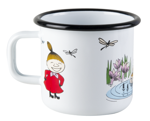 Moomin enamel mug, 3,7dl, Little My