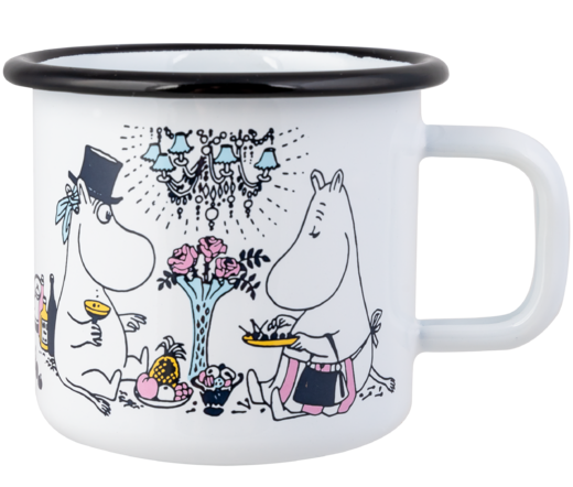 Moomin Enamel Mug, 3,7 dl, Date Night
