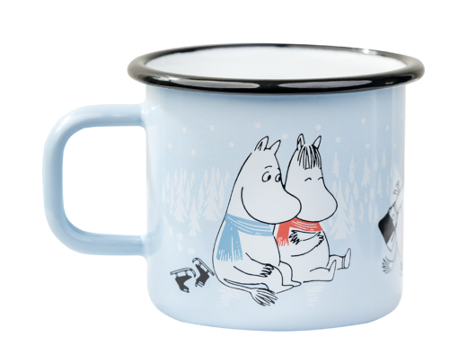 Moomin Enamel Mug, 3,7 dl, Day on Ice