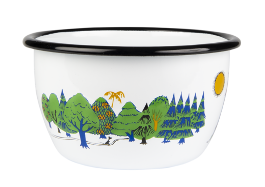 ENAMEL BOWL 6DL MOOMINVALLEY