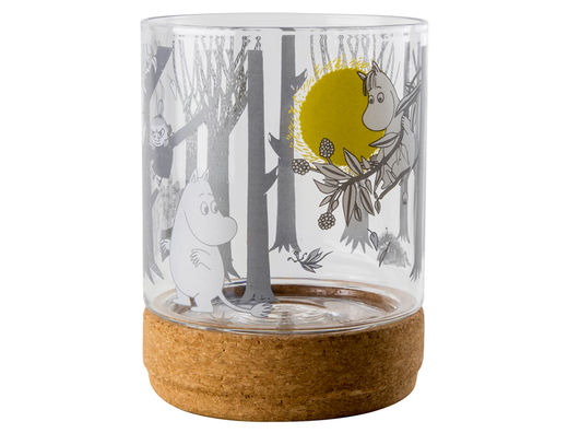 Moomin Forest glass jar/lantern, 15,5cm