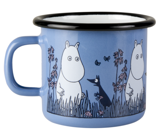 Moomin Friends enamel mug, 2,5dl, Moomin