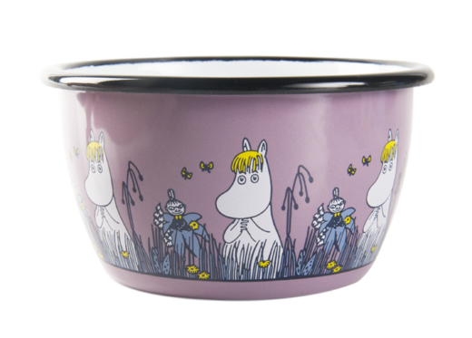Moomin Friends enamel bowl, 3dl, Snorkmaiden