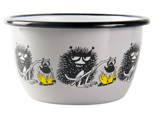 Moomin Friends enamel bowl, 3dl, Stinky