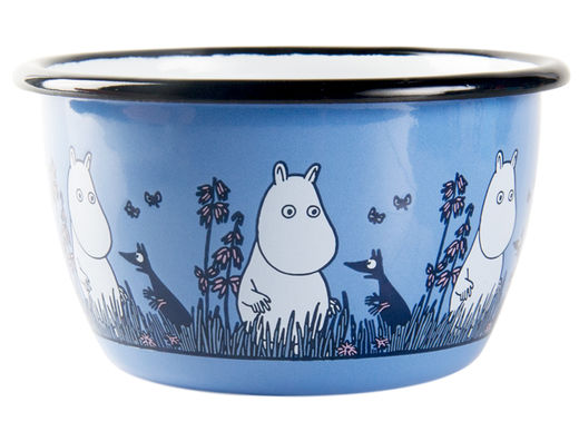 Moomin Friends enamel bowl, 3dl, Moomin