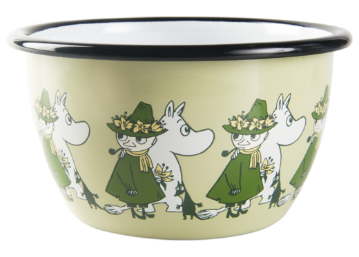 Moomin Friends enamel bowl, 6dl, green