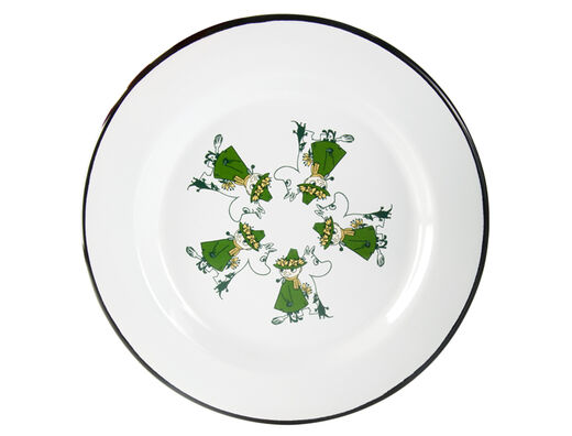 Moomin Friends enamel plate, 24cm, green