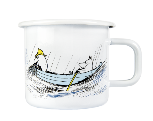 Moomin Originals Enamel Mug, 3,7 dl, Gone Fishing