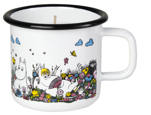 Moomin candle in enamel mug, 3,7dl, Shared Moment