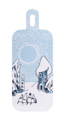 Moomin Chop & Serve serving/cutting board, 13x33cm, Snowy Valley