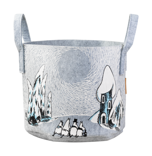 Moomin Storage Basket, 30 L, Snowy Valley
