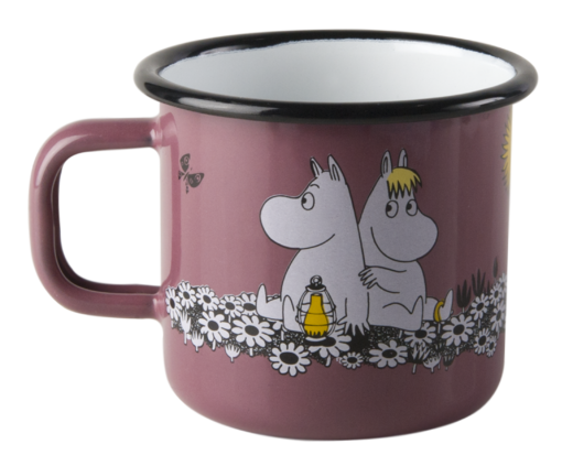 Moomin enamel mug, 3,7dl, Together forever