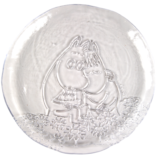 Moomin glass plate, 26cm, Together Forever