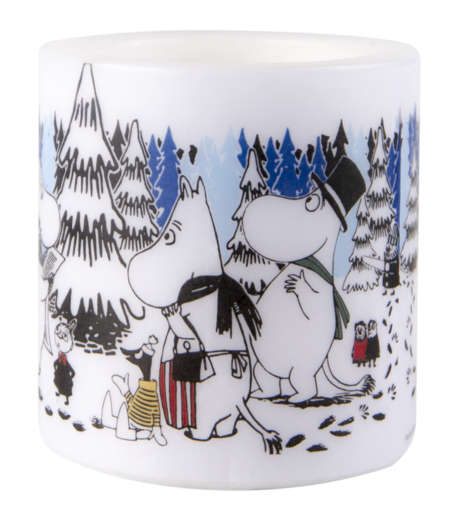 Moomin Candle, 8 cm, Winter Forest