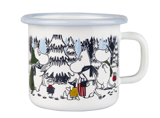 Moomin Enamel Mug Winter Forest 2,5dl
