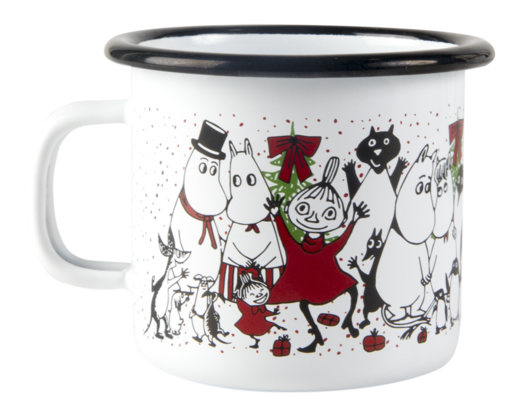 Moomin enamel mug, 2,5 dl, Winter Magic