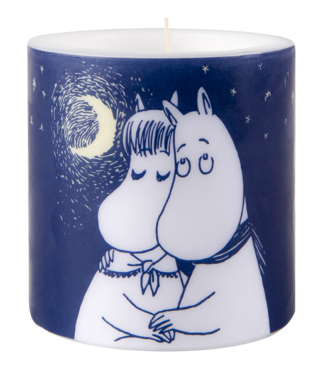 Moomin Candle, 8 cm, Winter Romance