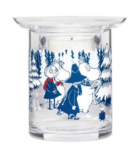Moomin candle holder, Winter Forest, 10 cm