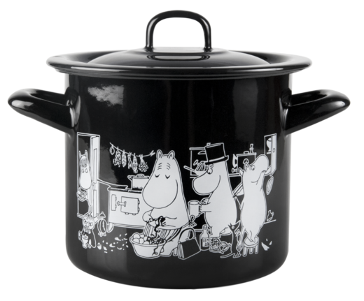 Moomins in the Kitchen -enamel pot, 1,5 L