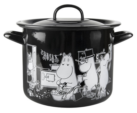 Moomins in the Kitchen -enamel pot, 3,5 L