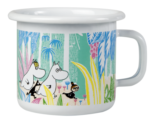 Moomins in the Jungle Enamel mug 2,5dl