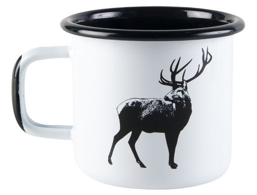 Nordic enamel mug, 3,7dl, The Deer